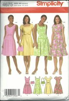 Simplicity 4675HH Sewing Pattern Misses Dresses Purse Size 6-12