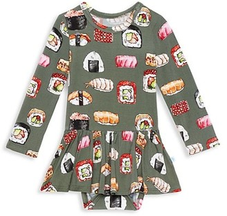 Posh Peanut Baby's & Little Girl's Sashimi Long Sleeve Basic Twirl Skirt Bodysuit