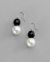 Jet & Glass-Pearl Earring