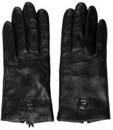 Tory Burch Leather Logo-Embellished Gloves