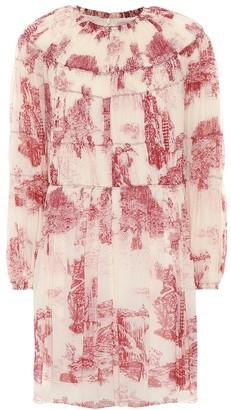Chloé Printed silk minidress