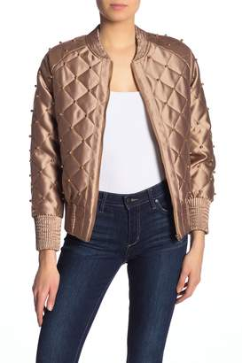 Tov Quilted Embellished Jacket
