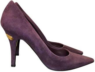 Louis Vuitton Purple Suede Heels