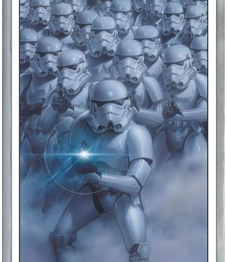 Star Wars Trends International Stormtroopers Poster, Silver Framed Version