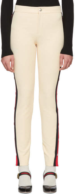 Gucci Ivory Snap Buttons Leggings