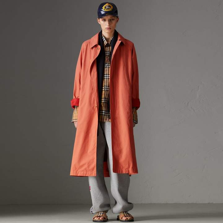 Burberry Reissued Cotton Car Coat with Detachable Warmer
