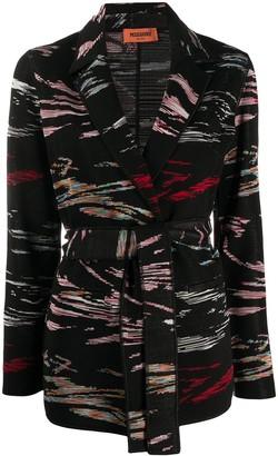 Missoni Belted Intarsia Knit Jacket