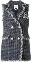 Edward Achour Paris sleeveless tweed blazer