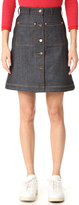 Carven Denim Skirt