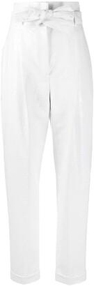 Philosophy di Lorenzo Serafini Croc-Effect Tapered Trousers