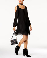 INC International Concepts Cold-Shoulder Swing Dress, Created for Macy's