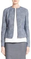 BOSS Petite Women's Karonita Collarless Tweed Jacket