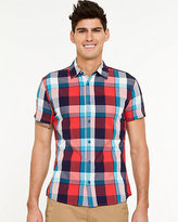 Le Château Plaid Short Sleeve Shirt
