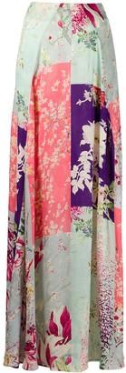 Etro Floral-Print Maxi Skirt