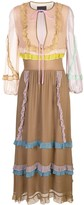 Cynthia Rowley edie mini ruffle trim maxi dress