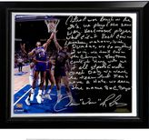 """Steiner Sports Detroit Pistons Dennis Rodman The Bad Boys Facsimile 22"""" x 26"""" Framed Stretched Story Canvas"""