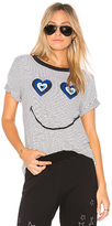 Lauren Moshi Paulina Heart Evil Eye Tee in White