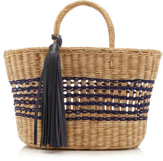 Nannacay Vega Striped Raffia Tote