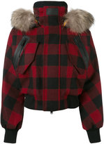 DSQUARED2 Ski jacket - women - Feather Down/Polyamide/Polyester/Racoon Fur - 38