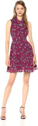 Nanette Lepore Women's Slvls Print Fit & Flair W/Twist Neckline