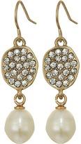 The Sak Pave Pearl Drop Earrings