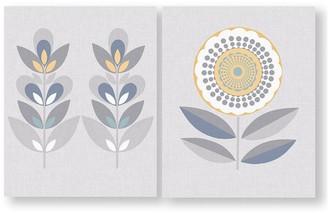 Graham & Brown Set Of 2 Retro Flora Printed Canvas