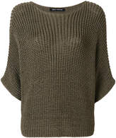 Iris von Arnim three-quarter sleeved knit jumper
