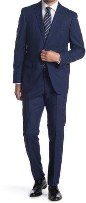 John Varvatos Collection Nested Blue Wool Suit