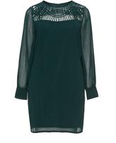 Tia Dresses Plus Size Chiffon cut-out detail tunic