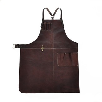 Eva D. Handcrafted Leather Apron Reddish Brown