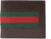 Gucci - Stripe-trimmed Leather Billfold Wallet