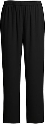 Eileen Fisher Silk Straight-Leg Pants