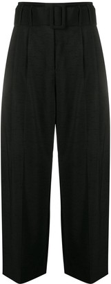 Sandro Paris High-Waisted Pleat Trousers