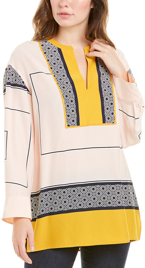 Thumbnail for your product : Tory Burch Aston Silk Tunic