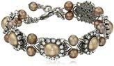"Liz Palacios Perlas"" Swarovski Crystal and Pearl Bracelet, 8"""
