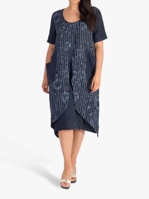Chesca Floral Wrap Dress, Navy