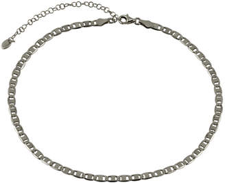 Argento Vivo Silver Heavy Link Thick Chain Cut Choker Necklace