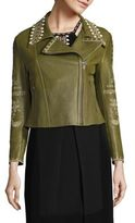 Yigal Azrouel Embroidered Leather Moto Jacket