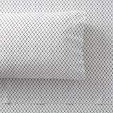 Pottery Barn Teen The Emily & Meritt Organic Fishnet Sheet Set, Twin/Twin XL, Ivory/Black