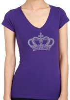 BLING BLING COUNTRY CROWN Rhinestone/stud Womens T-Shirts