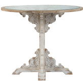 A&B Home 30.5In Wooden Carved Table