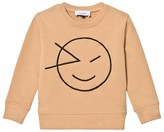 Wynken Tan Wink Face Embroidered Sweatshirt