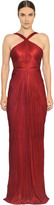 Maria Lucia Hohan Scarlet Metallic Silk Tulle Gown