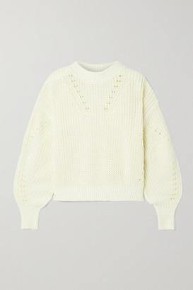 La Ligne Ribbed Cotton Sweater - Cream
