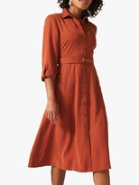 Phase Eight Tallulah Shirt Dress, Spice