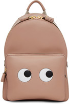 Anya Hindmarch Pink Mini Eyes Right Backpack