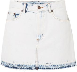 Marc Jacobs Frayed Bleached Denim Mini Skirt