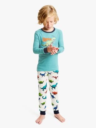 Hatley Boys' Dinosaur Herd Applique Pyjamas, Green/Multi