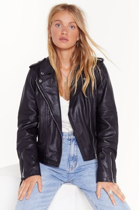 Nasty Gal Womens Bigger the Better Oversized Leather Jacket - Black - 6