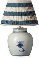 OKA Ruheng Ceramic Table Lamp - White/Blue